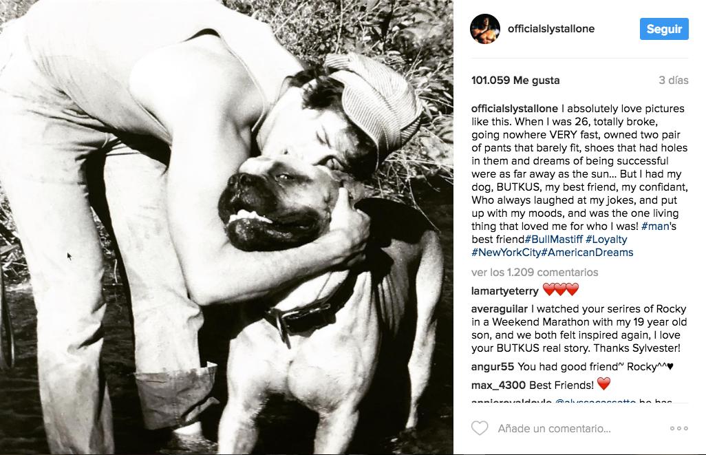 Stallone y su perro Butkus